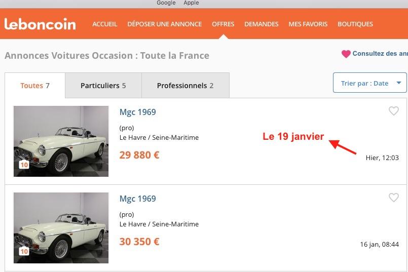 Forum Mg Afficher Le Sujet Annonce Le Bon Coin
