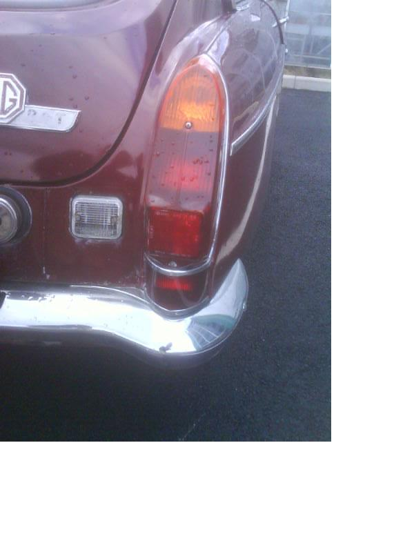 Mg midget rubber bumper conversion